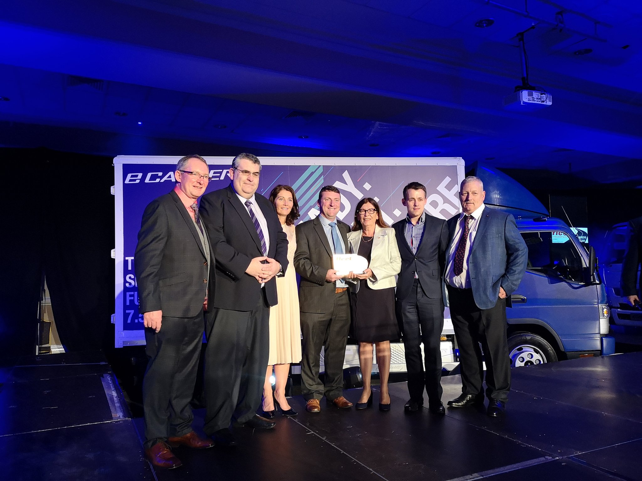 Picture of Team Being Presented Fleet Transport Award